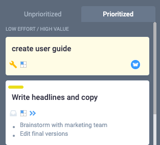 Get a prioritized task list